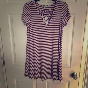 Dresses & Skirts - Purple Stripe SunDress👗